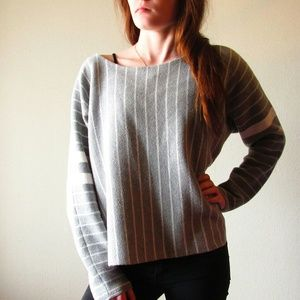 Banana republic Gray and white striped sweater